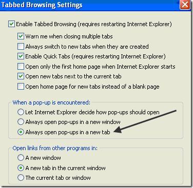 Internet explorer ouvre une nouvelle fen tre comment for Ouvrir dans une nouvelle fenetre